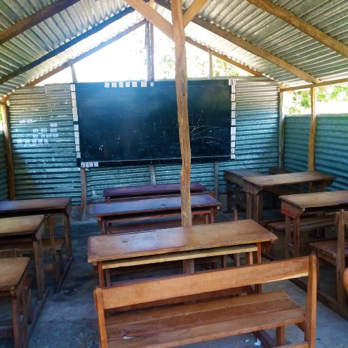 Inside one of the classrooms